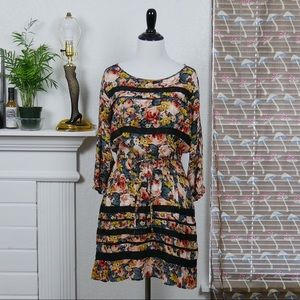Holding Horses • boho floral long sleeved dress